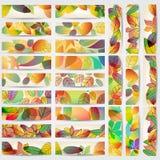 Bandeiras coloridas das folhas de outono Imagem de Stock Royalty Free
