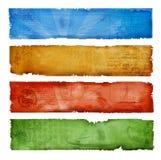 Bandeiras coloridas do grunge Fotos de Stock Royalty Free