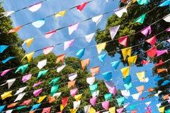 Bandeiras coloridas do partido Imagem de Stock Royalty Free