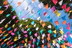 Bandeiras coloridas do partido Fotografia de Stock