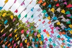 Bandeiras coloridas do partido Fotografia de Stock Royalty Free