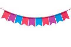 Bandeiras coloridas do partido da estamenha isoladas no fundo branco Imagens de Stock Royalty Free