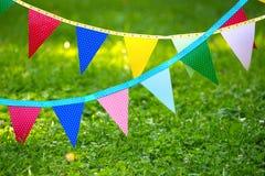Bandeiras coloridas do partido feitas do papel Imagem de Stock Royalty Free