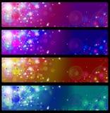 Bandeiras coloridas do vetor Fotos de Stock Royalty Free