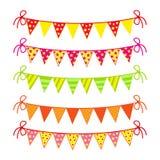 Bandeiras coloridas festivas Imagem de Stock Royalty Free