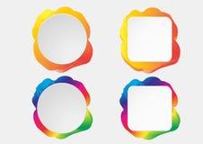 Bandeiras coloridas infographic de papel ajustadas Imagens de Stock Royalty Free