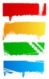 Bandeiras coloridas sujas Fotografia de Stock Royalty Free