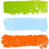 Bandeiras coloridos sujas com florals Fotografia de Stock