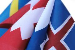 Bandeiras com cruzes Foto de Stock Royalty Free