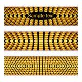 Bandeiras com elementos metálicos do ouro Fotos de Stock
