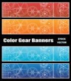 Bandeiras com engrenagens Foto de Stock