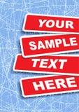 Bandeiras com lugar para o texto Ilustração do vetor Fotos de Stock