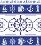 Bandeiras com símbolos náuticos ilustração royalty free