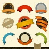 Bandeiras, concessões e fitas do Grunge Fotos de Stock
