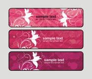 Bandeiras cor-de-rosa Fotos de Stock Royalty Free