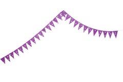 bandeiras cor-de-rosa da estamenha do partido Fotografia de Stock Royalty Free