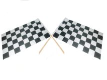 Bandeiras cruzadas de Raceing Imagens de Stock Royalty Free
