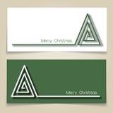 Bandeiras da árvore de Natal Imagens de Stock Royalty Free
