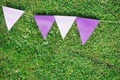 Bandeiras da alfazema por feriados da decoração Foto de Stock Royalty Free