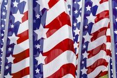 Bandeiras da bandeira dos Estados Unidos Foto de Stock Royalty Free