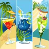 Bandeiras da bebida Foto de Stock