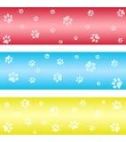 Bandeiras da cópia da pata ilustração stock