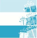 Bandeiras da caixa de presente do Natal para seu projeto ilustração stock