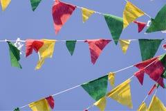 Bandeiras da celebração da vila Imagem de Stock