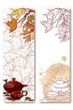 Bandeiras da cerimônia de chá ajustadas Fotografia de Stock Royalty Free