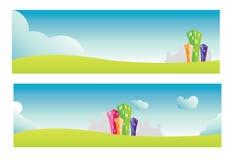 Bandeiras da cidade Imagem de Stock