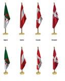 Bandeiras da conferência Fotografia de Stock Royalty Free