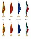 Bandeiras da conferência Foto de Stock