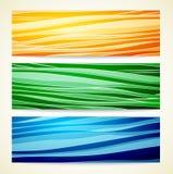 Bandeiras da cor ajustadas Foto de Stock
