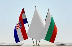 Bandeiras da Croácia e da Bulgária foto de stock royalty free