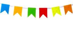 Bandeiras da decoração fotografia de stock