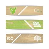 Bandeiras da ecologia Fotos de Stock Royalty Free