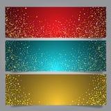 Bandeiras da estrela do Natal Fotografia de Stock Royalty Free
