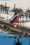 Bandeiras da Federação Russa e da república de Tartaristão imagem de stock royalty free