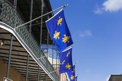 Bandeiras da flor de lis Imagens de Stock