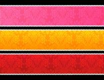 Bandeiras da guarnição do laço Imagens de Stock