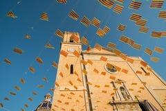 Bandeiras da igreja e do feriado Imagem de Stock Royalty Free