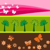 Bandeiras da mola Fotografia de Stock