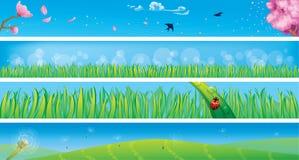 Bandeiras da mola ilustração do vetor