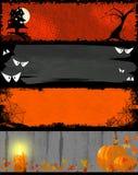 Bandeiras da noite de Halloween Fotografia de Stock