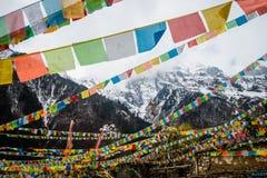 Bandeiras da oração com Imagens de Stock Royalty Free