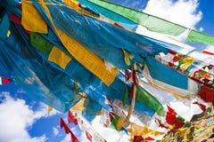 Bandeiras da oração de Tibet Fotografia de Stock Royalty Free