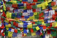 Bandeiras da oração em Nepal Fotografia de Stock