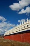 Bandeiras da oração em Tibet Fotografia de Stock Royalty Free