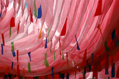 Bandeiras da oração em Tibet China Imagens de Stock Royalty Free