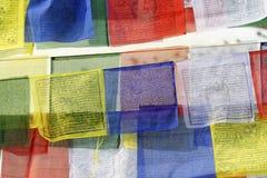 Bandeiras da oração fotografia de stock royalty free
